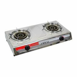 NEW DOUBLE HEAD BURNER OUTDOOR CAMPING PORTABLE PROPANE GAS