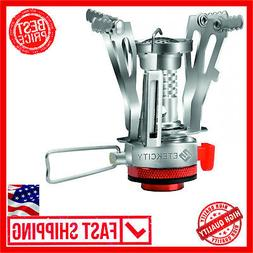 NEW Ultralight Portable Outdoor Backpacking Camping Stove wi