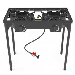 Outdoor&Indoor Portable Propane Stove, Single&Double Burners
