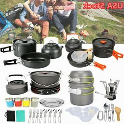 Outdoor Camping Cookware Backpacking Hiking Cooking Tablewar