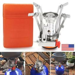 Outdoor Camping Portable Gas Stove Butane Burner Hiking Picn