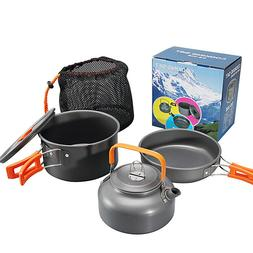 Outdoor Camping Stove Cookware Backpacking Hiking Picnic Coo