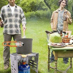 Outdoor Wood Stove Backpacking BBQ Grill Portable Folding Ch