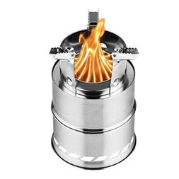 "Upgraded 8"" Camping Wood Stove Portable Stainless Steel w/So"