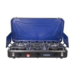 Stansport Outfitter Series 3-Burner Propane Stove, Blue/Silv