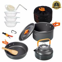Overmont Ultralight Camping Cookware Set Camping Stove Outdo