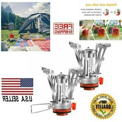 Piezo Ignition Backpacking Stove Camping Mini Outdoor Portab