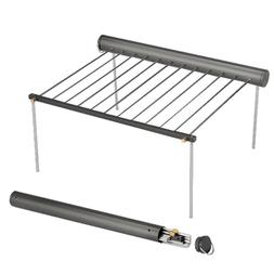 Portable BBQ Grill Camping Wood Stove Detachable Barbecue Ra