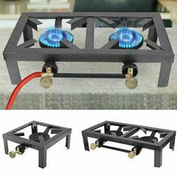 portable camp stove double single burner propane