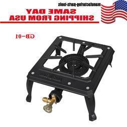 Portable Camp Stove Single Burner Cast Iron Propane Gas LPG