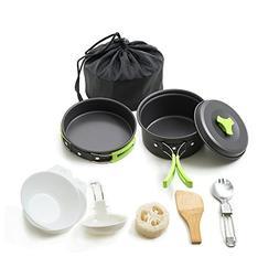 Honest Portable Camping cookware Mess kit Folding Cookset fo