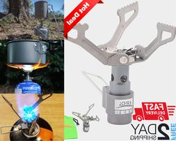 Portable Camping Gas Stove, Alloy Outdoor Ultralight Burner,