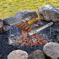 NASHRIO Portable Camping Grill, Folding Compact Stainless St