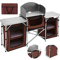 Happybuy Portable Camping Kitchen Table Multifunctional Camp