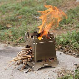 Portable Compact Folding Wood Stove for Outdoor Camping Hiki
