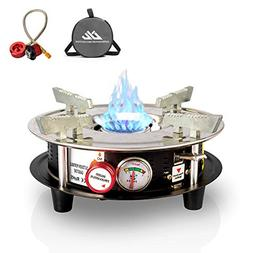 Drhob Portable Cooking Gas Stove Burner 10,000 BTU Dual Fuel
