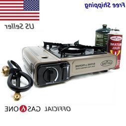 Portable Dual Fuel Stove Propane Butane Camping Gas Stoves B