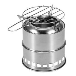Portable Folding Camping Stove & Alcohol Tray and Grill Net