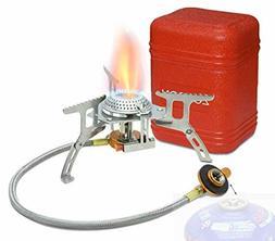 Portable Gas Stove Burner Backpacking Camp Pocket Propane Co