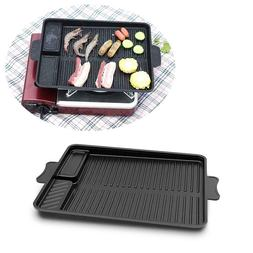 Portable Grills Tray Picnic Stove Grill Steak Pan for Outdoo