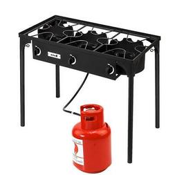 ZOKOP Propane 225,000-BTU 3 Burner Gas Cooker Outdoor Camp S