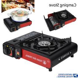 portable propane butane stove black outdoor picnic
