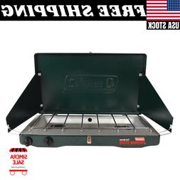 Coleman Portable Propane Gas Classic Stove With 2 Burners Tw