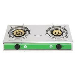 Portable Propane Gas Double 2 Burner Camping Tailgating Stov