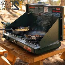 Portable Propane Gas Stove Double Burner For Camping Cooking