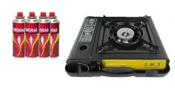 New Portable Single Burner Butane Gas Camping Stove w/ Hard