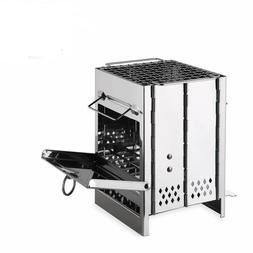 Portable Stainless Steel Camping Stove Foldable Outdoor BBQ