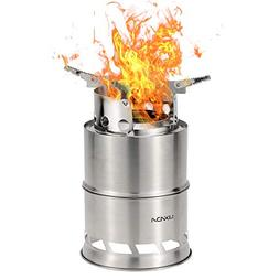 Lixada Camping Stove Portable Lightweight Wood Burning Stove