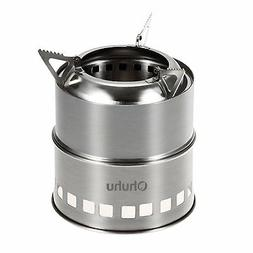Ohuhu Portable Stainless Steel Wood Burning Camping Survival