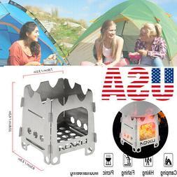 Lixada Folding Titanium Outdoor Camping Wood Stove Camping F