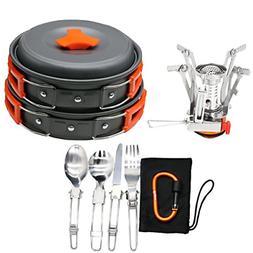 Pots Pans & Griddles Bisgear 16pcs Camping Cookware Stove Ca