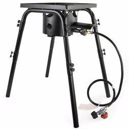 High Pressure Gas Stove Burner, 200000 BTU, Regulator 20 PSI