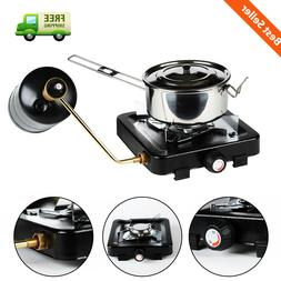 Propane Gas Stove Durable Outdoor Camping Single Burner Port