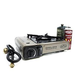 GasOne Propane or Butane Stove GS-3400P Dual Fuel Portable C