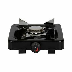 Stansport Single Burner 5 500 BTU Propane Stove BLACK FREE S