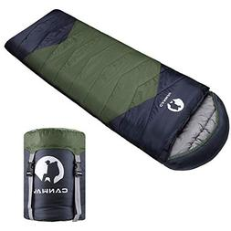 CANWAY Sleeping Bag with Compression Sack, Lightweight and W
