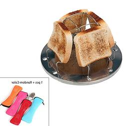 Camping Toaster with a Set of Flatware , 4 Slice Toasters St