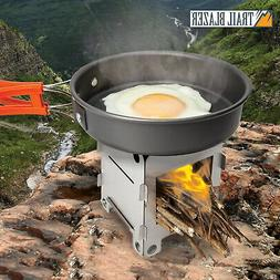 Stainless Steel Compact Folding Wood Stove Outdoor Camping P