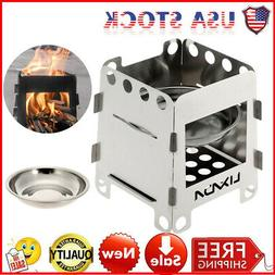 Stainless Steel Folding Wood Stove Pocket Cooking Outdoor Bu