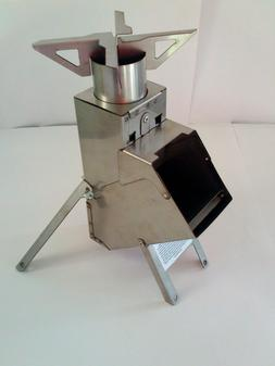 Stainless Steel Rocket Stove Survival Tailgate Camping  WOW