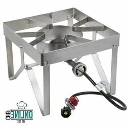 Stainless Steel Single Burner Liquid Propane Outdoor Camping