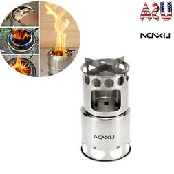 Lixada Stainless Steel Wood Stove Outdoor Cooking Picnic Cam