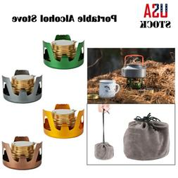 Survival Alcohol Stove Burner For Backpacking Hiking Camping