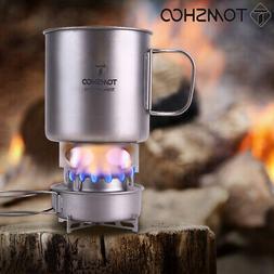 TOMSHOO Titanium Portable Alcohol Burner Stove Mini Camping