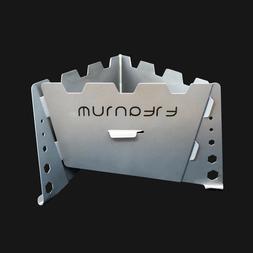 Titanium Solid Fuel Stove - Integrated Wind Shield