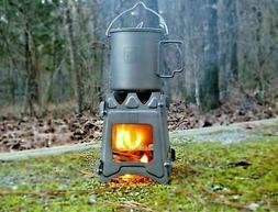 Titanium Ultralight Outdoor Camping Folding Wood Stove